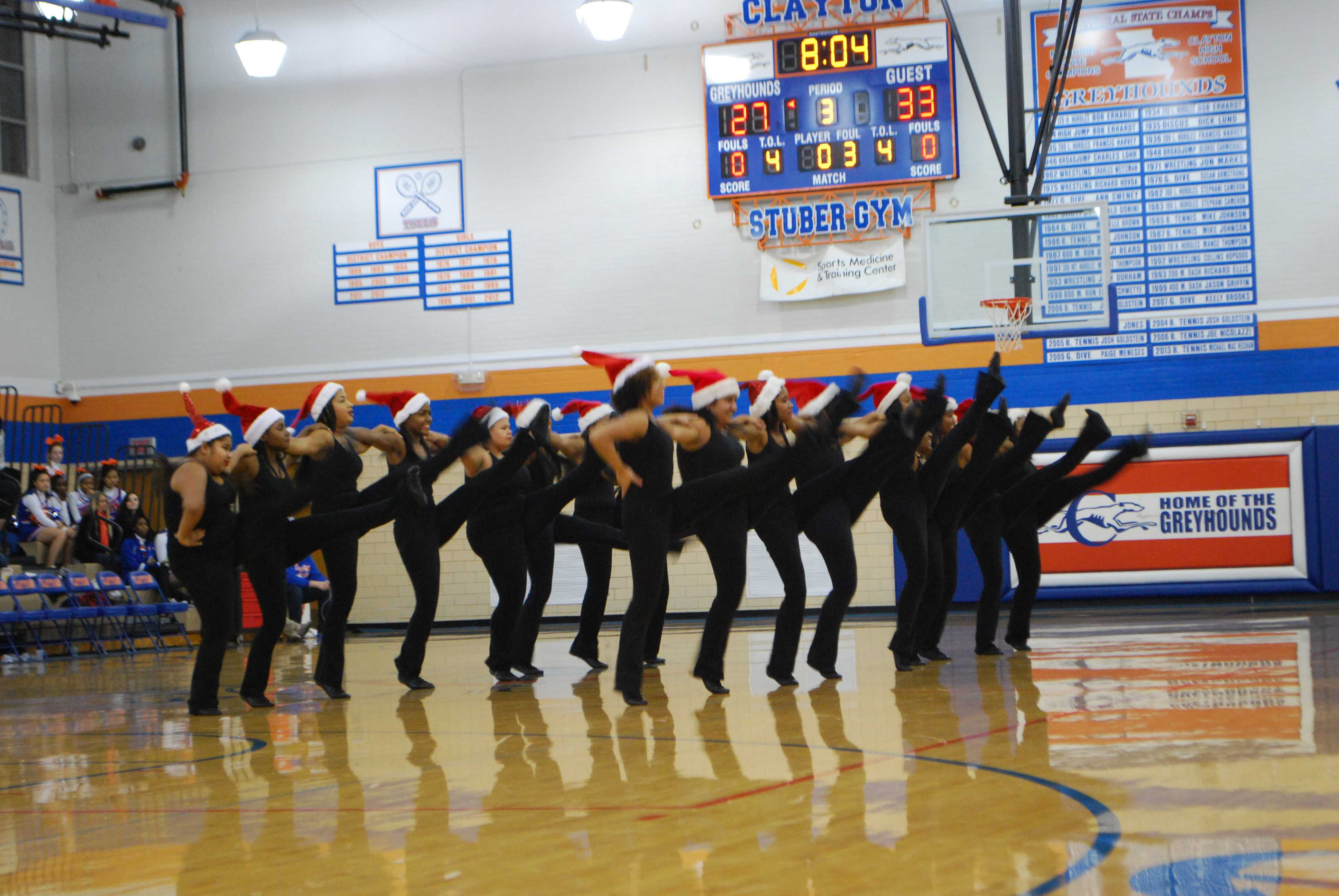 Photo Of The Day Dance Team Performs At The Clayton Vs Lutheran South Basketball Game The Globe