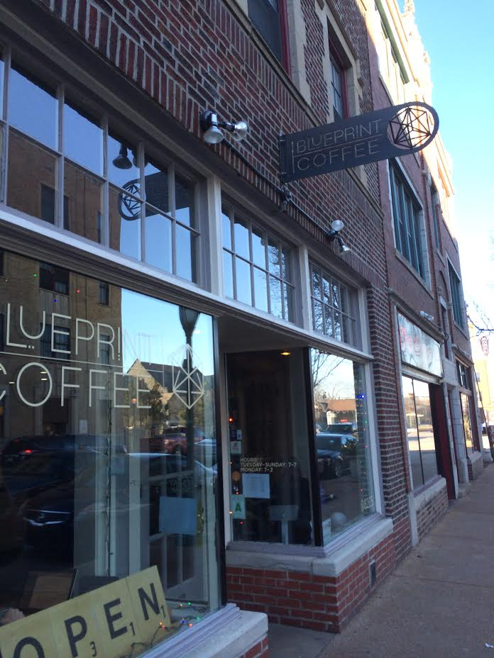 Blueprint coffee the globe blueprint coffee in the delmar loop malvernweather Choice Image